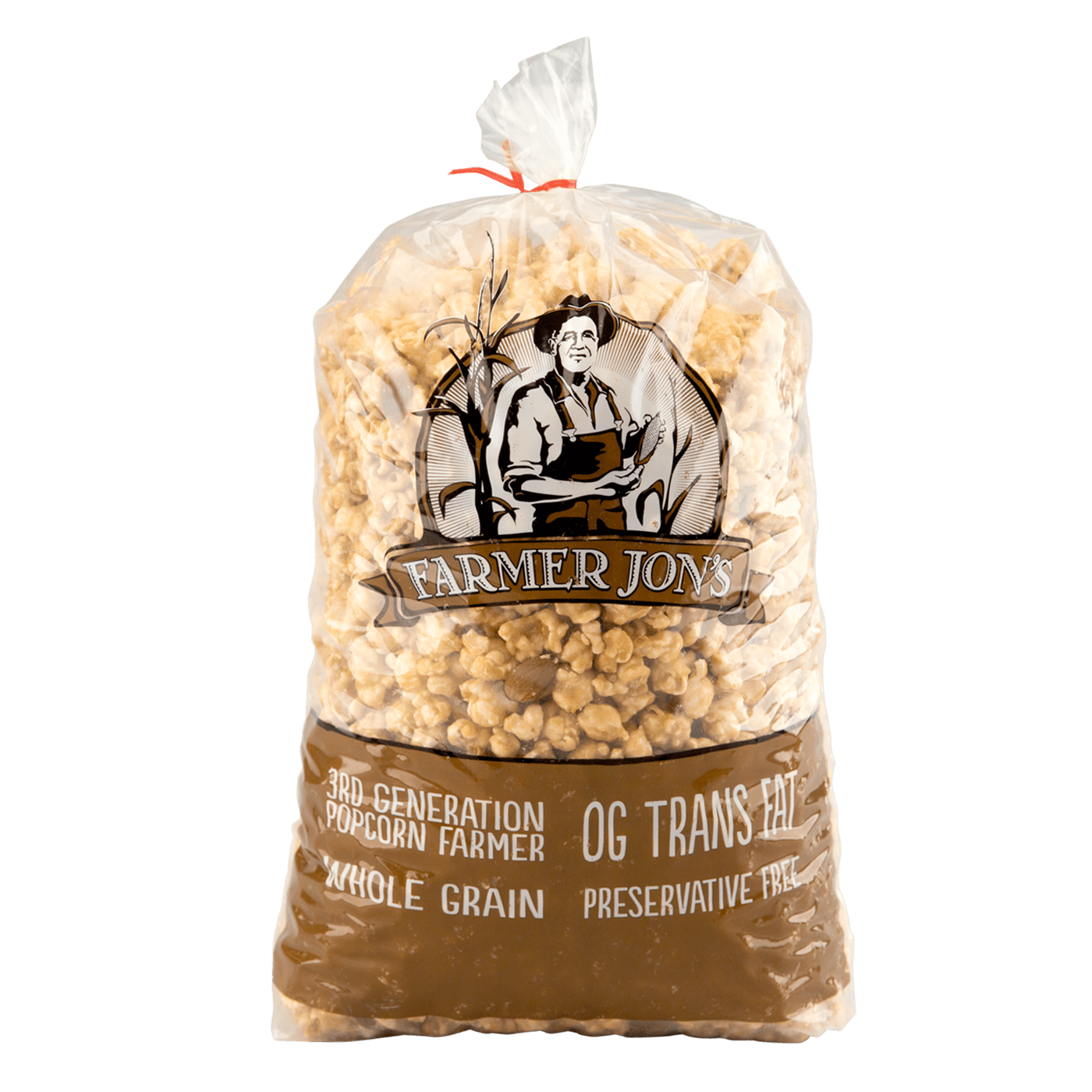 Farmer Jon's Caramel & Almonds Popped Popcorn - Large Size