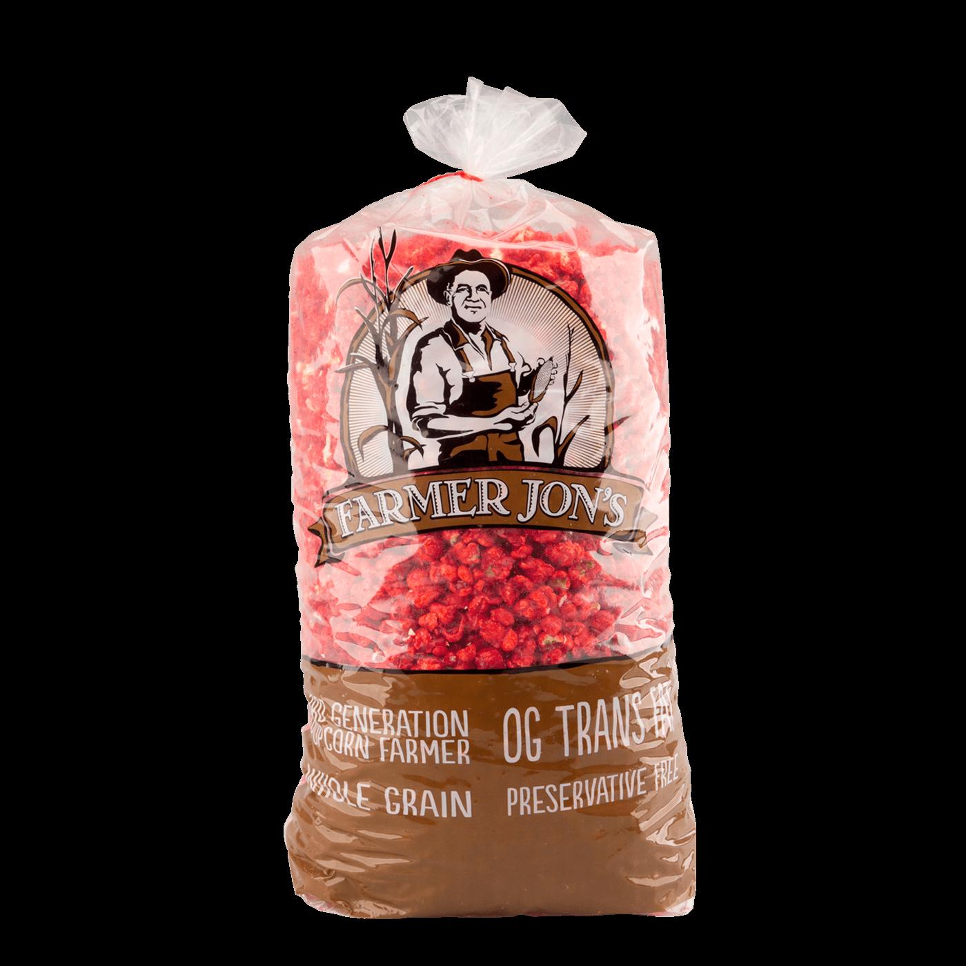 Farmer Jon's Red Custom Popped Popcorn - Large Size