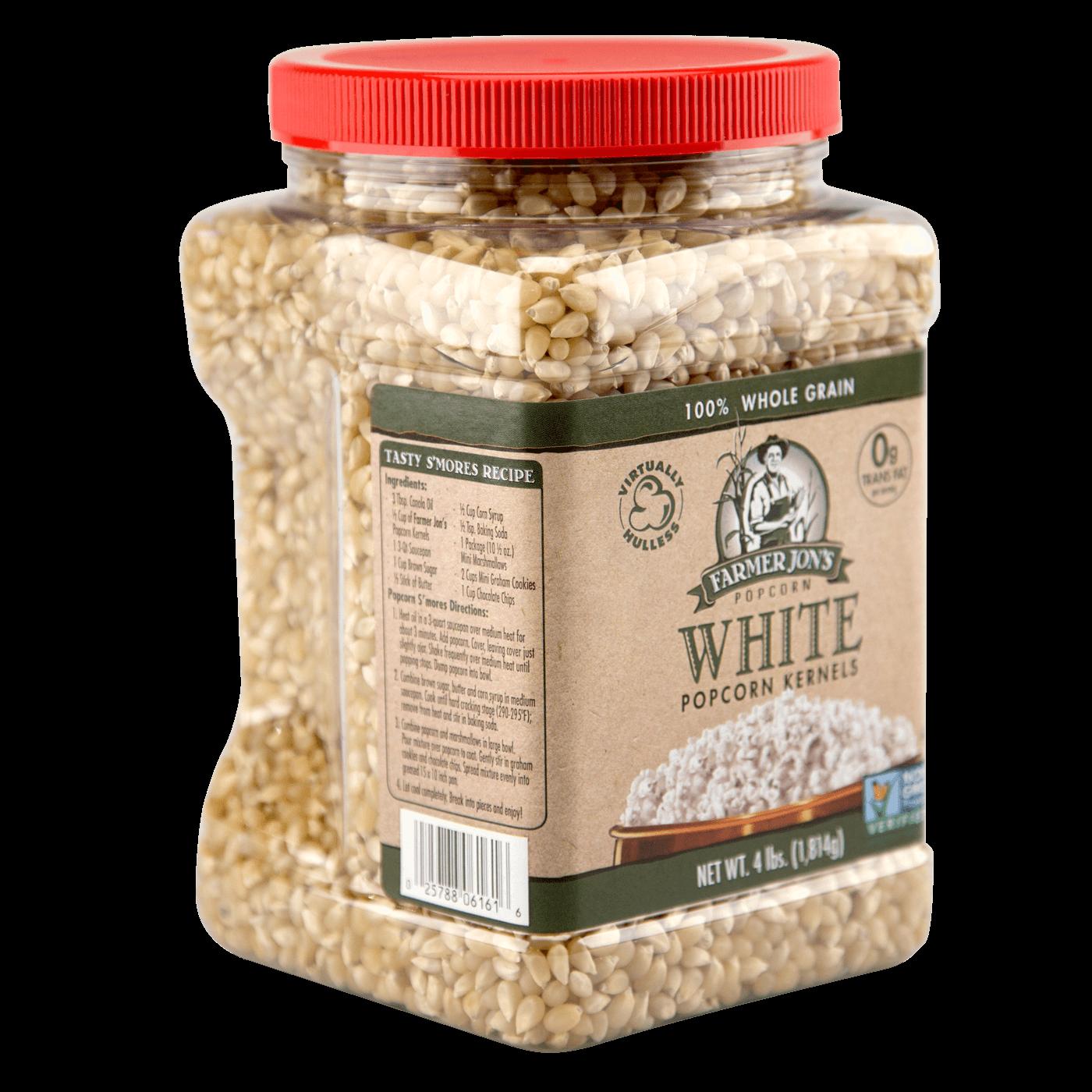 Farmer Jon's Virtually Hulless White Popcorn Kernels