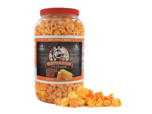 Cheddar Cheese Popcorn Jar