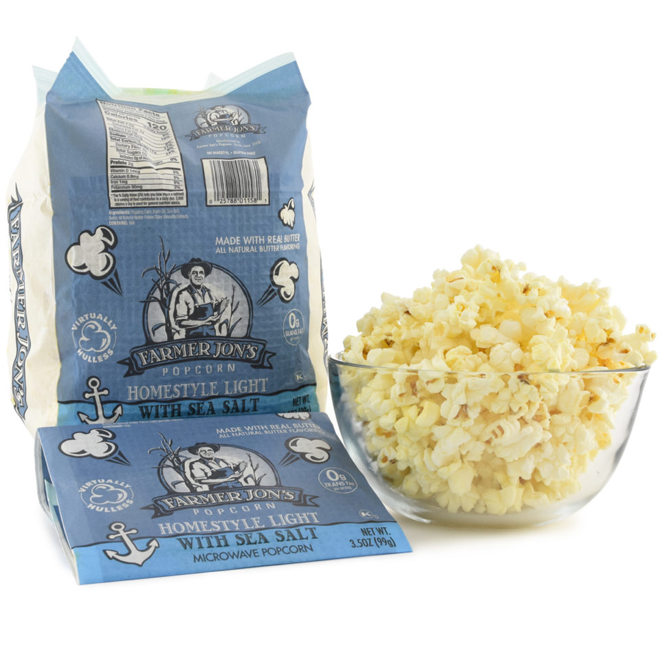 Homestyle Light with Sea Salt Microwave Popcorn